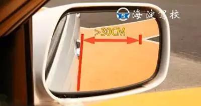 倒车入库,图文解析          等于30厘米     三,当车身与库区边线